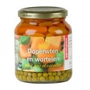 Doperwten en wortels pot 660 ml