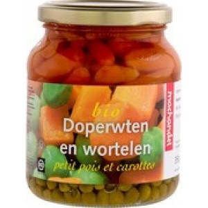 Doperwten en wortels pot 350 ml