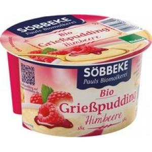 Griesmeelpudding met frambozen 150 gram