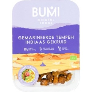 Gemarineerde Tempeh Indiaas Gekruid