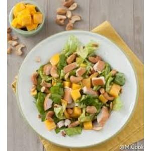 Zomersalade van gerookte kip en Mango per 200 gram