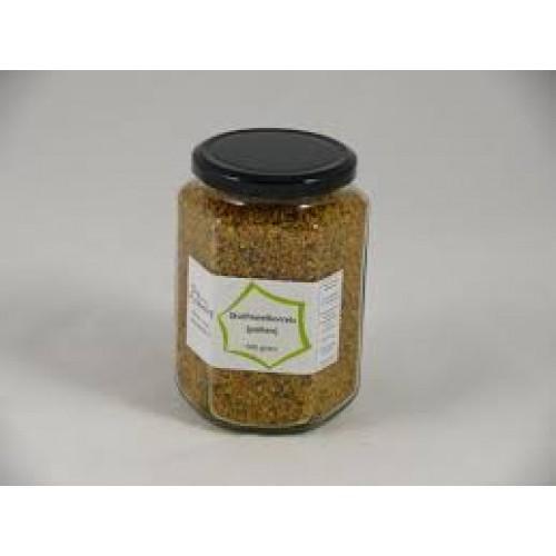 Stuifmeelkorrels 500 gram in pot. 100% pure stuifmeelkorrels. Pollen geven kracht en energie.