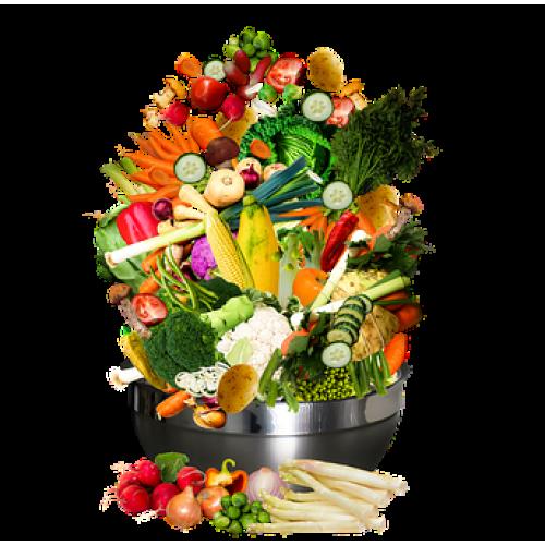 Weekpakket van week 51 VEGETARISCH met groentetas fruittas, vegetarisch vlees en brood voor maar € 29,98