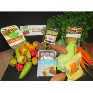 Weekpakket geldig  van 13 t/m18 september VEGETARISCH met groentetas fruittas Vegapakket