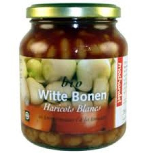 Witte bonen in tomatensaus pot 340 ml